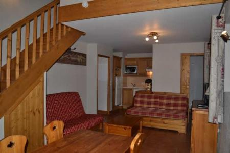 Rent in ski resort 3 room duplex apartment 8 people (ECR211) - Résidence les Ecrins - Praz sur Arly - Living room