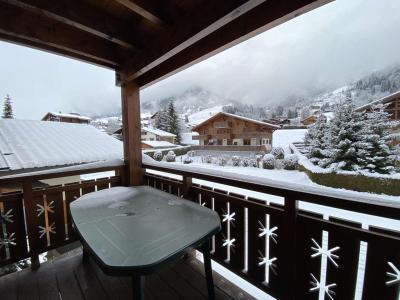 Аренда на лыжном курорте Апартаменты 3 комнат 6 чел. (110) - Résidence les Ecrins - Praz sur Arly - зимой под открытым небом