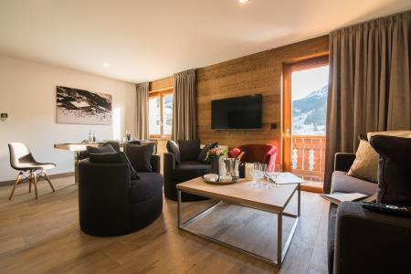 Rent in ski resort Résidence Les Portes de Megève - Praz sur Arly - Living room