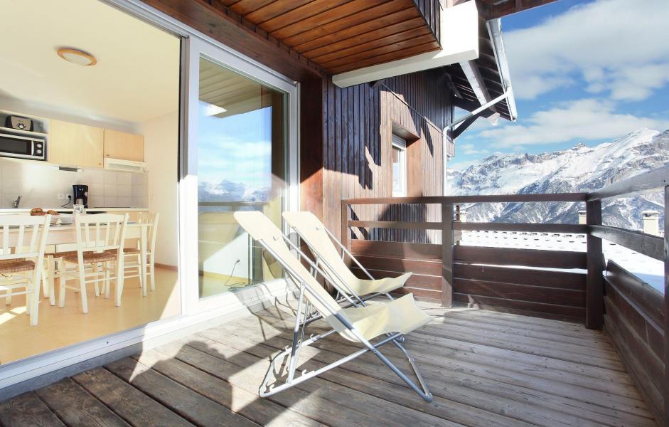 Location au ski Les Chalets Puy Saint Vincent - Puy-Saint-Vincent - Terrasse