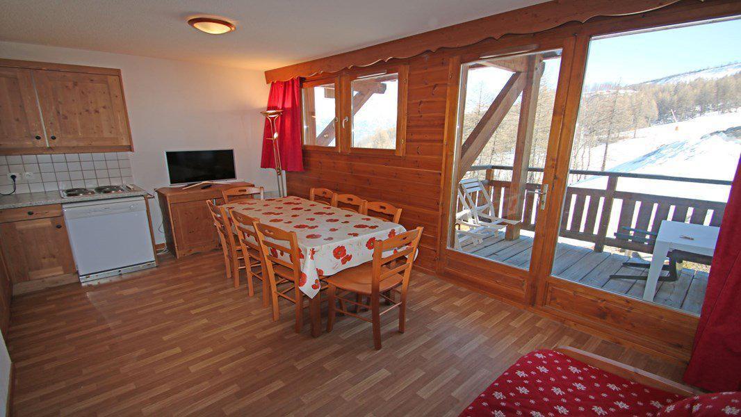 Location au ski Appartement 4 pièces 6 personnes (112) - Résidence Hameau des Ecrins - Puy-Saint-Vincent - Table
