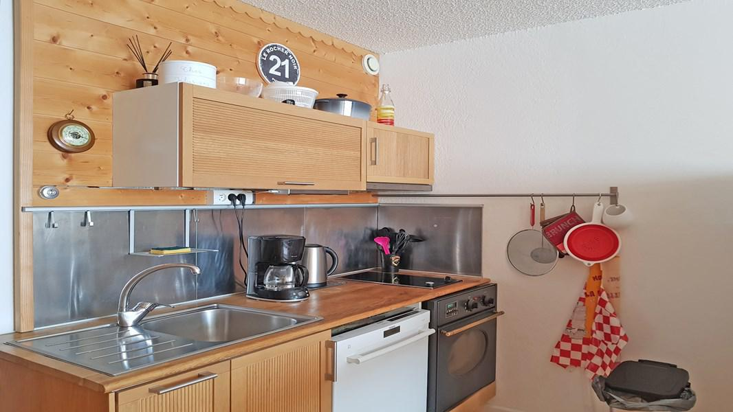 Rent in ski resort 2 room apartment 5 people (102) - Résidence le Podium - Puy-Saint-Vincent - Kitchen
