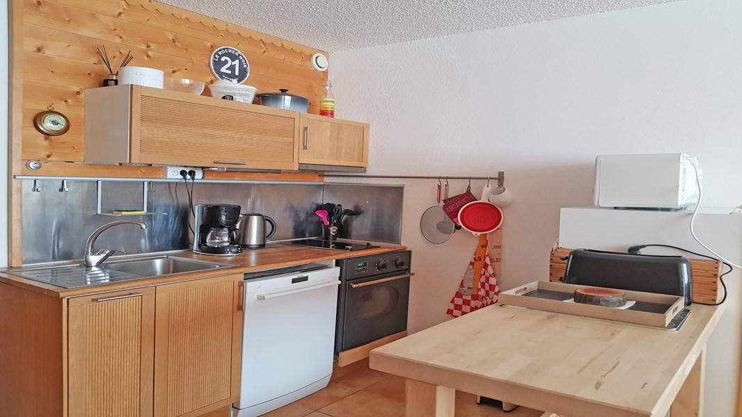 Rent in ski resort 2 room apartment 5 people (102) - Résidence le Podium - Puy-Saint-Vincent - Kitchenette