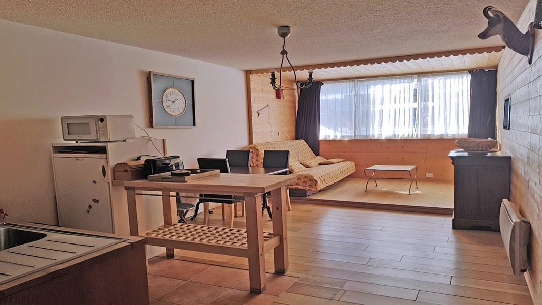 Rent in ski resort 2 room apartment 5 people (102) - Résidence le Podium - Puy-Saint-Vincent - Living room