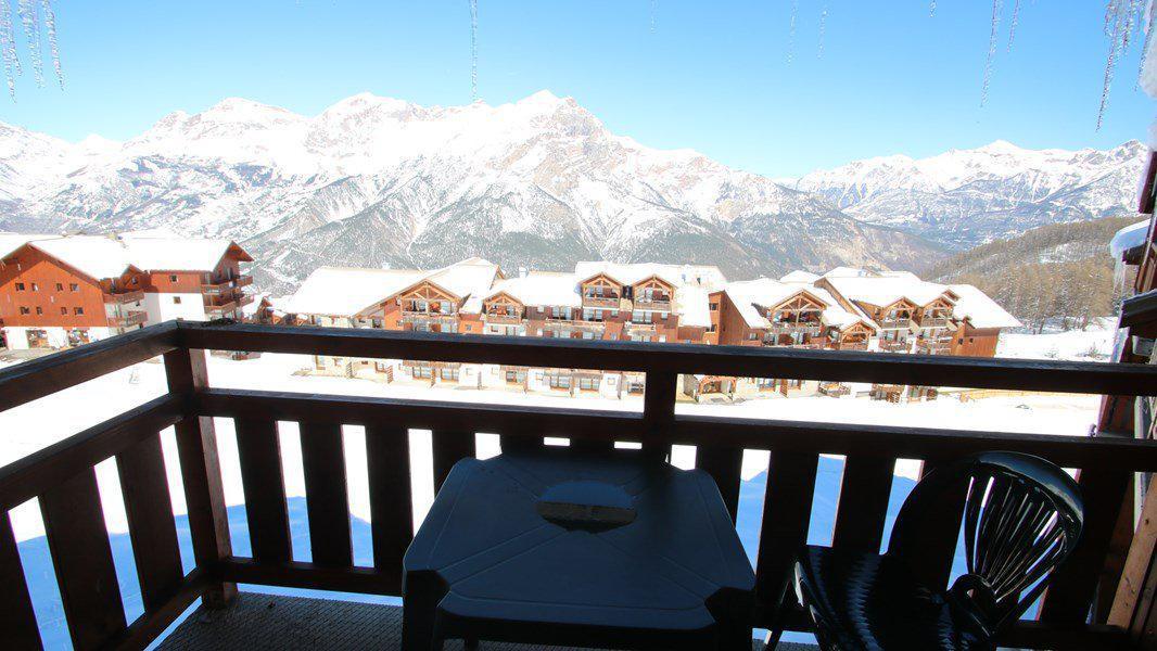 Location au ski Appartement 3 pièces 6 personnes (C401) - Résidence Parc aux Etoiles - Puy-Saint-Vincent - Extérieur hiver