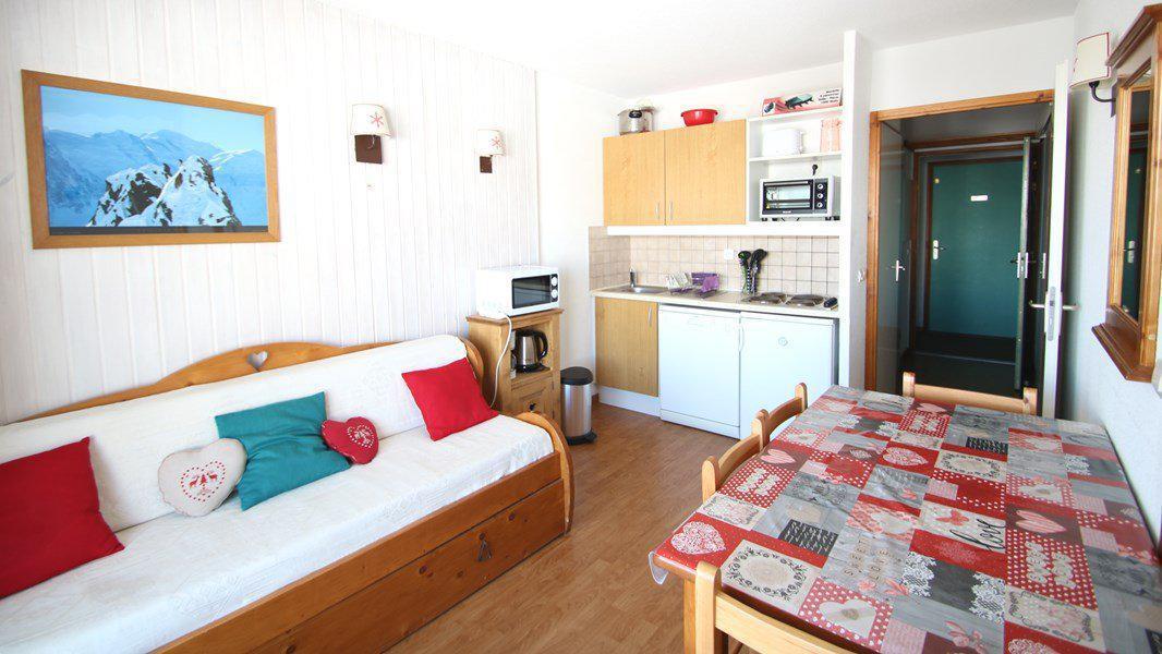 Location au ski Appartement 2 pièces 4 personnes (C212) - Résidence Parc aux Etoiles - Puy-Saint-Vincent - Canapé-gigogne