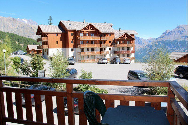 Location au ski Appartement 3 pièces 6 personnes (B101) - Résidence Parc aux Etoiles - Puy-Saint-Vincent - Balcon