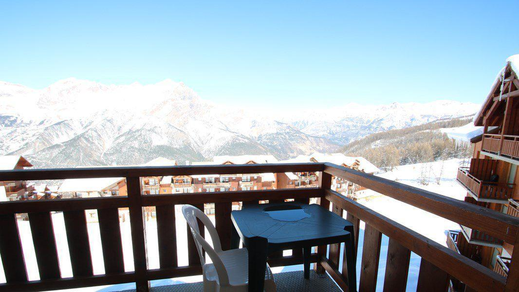 Location au ski Appartement 3 pièces 6 personnes (C402) - Résidence Parc aux Etoiles - Puy-Saint-Vincent - Balcon