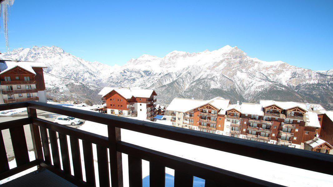 Location au ski Appartement 3 pièces 6 personnes (C403) - Résidence Parc aux Etoiles - Puy-Saint-Vincent - Balcon