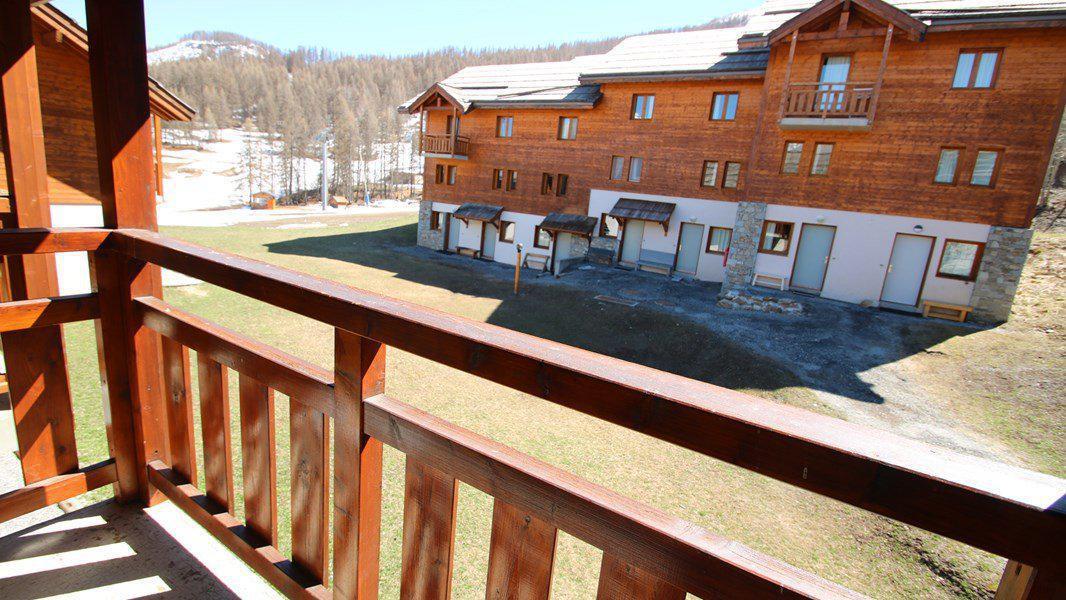 Location au ski Appartement duplex 3 pièces 7 personnes (CH22) - Résidence Parc aux Etoiles - Puy-Saint-Vincent - Balcon