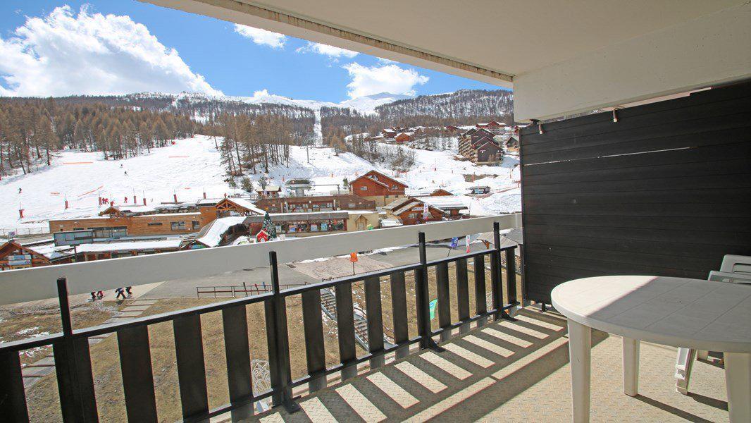 Location au ski Studio coin montagne 4 personnes (408) - Résidence Sapporo - Puy-Saint-Vincent - Extérieur hiver