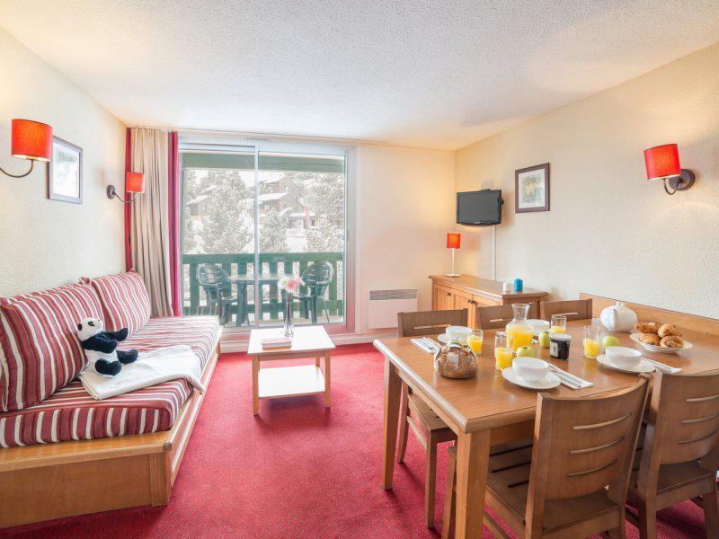 Location au ski Appartement 2 pièces 4-6 personnes - Résidence Pierre & Vacances le Sequoïa - Pyrénées 2000