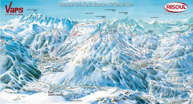 Location au ski Residence Le Laus - Risoul - Plan