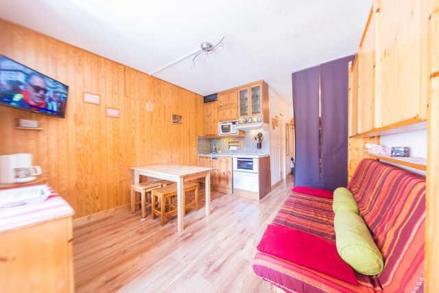 Location au ski Studio coin montagne 4 personnes (317) - Residence Le Laus - Risoul - Canapé-lit