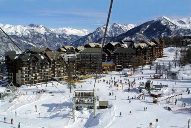 Location au ski Residence Le Valbel - Risoul - Extérieur hiver