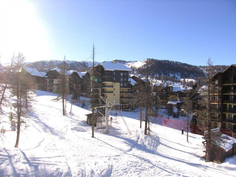 Rent in ski resort Studio sleeping corner 4 people (34A) - Résidence les Clématites A - Risoul
