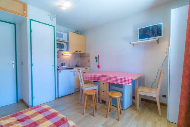 Location au ski Studio cabine 4 personnes (7) - Residence Soldanelles - Risoul - Lits superposés