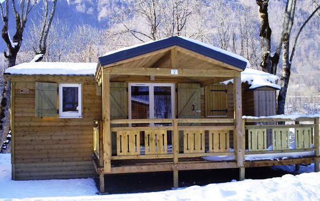 Location au ski Mobil-Home 3 pièces 6 personnes - Domaine La Perriere - Saint Colomban des Villards - Extérieur hiver