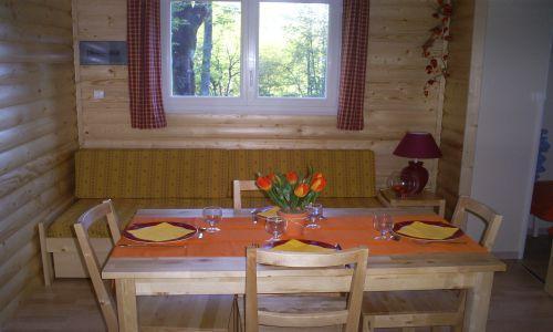 Location au ski Mobil-Home 3 pièces 6 personnes - Domaine La Perriere - Saint Colomban des Villards - Coin repas