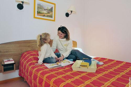 Location au ski Appartement 3 pièces 6 personnes - Residence Le Rond Point Des Pistes - Saint-François Longchamp - Chambre
