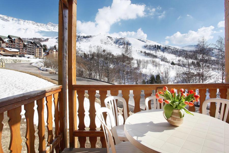 Аренда на лыжном курорте Résidence Belle Vue - Saint-François Longchamp - Балкон