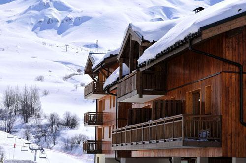 Vacances en montagne Residence Les 4 Vallees - Saint-François Longchamp - Extérieur hiver