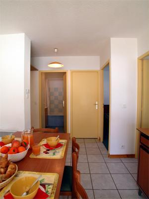 Location au ski Appartement 3 pièces 6 personnes - Residence Belle Vue - Saint-François Longchamp - Coin repas