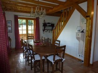 Location au ski Chalet triplex 6 pièces 8 personnes - Chalet Marie Paradis - Saint Gervais - Salle à manger