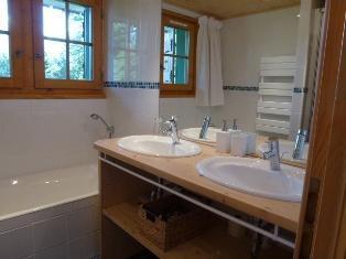 Location au ski Chalet triplex 6 pièces 8 personnes - Chalet Marie Paradis - Saint Gervais - Salle de bains