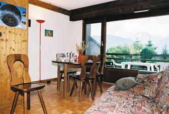 Location au ski Appartement 4 pièces 6 personnes (4) - Residence La Gelinotte - Saint Gervais - Porte-fenêtre donnant sur balcon