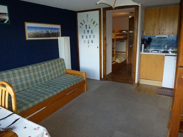 Location au ski Studio mezzanine 6 personnes (17) - Residence Le Taguy - Saint Gervais - Banquette-lit tiroir