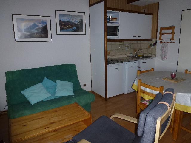 Location au ski Appartement 3 pièces mezzanine 6 personnes (83) - Residence Les Hauts De Saint Gervais - Saint Gervais - Banquette-lit