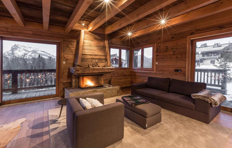 Location au ski Chalet Le Grey Fox - Saint Gervais - Cheminée