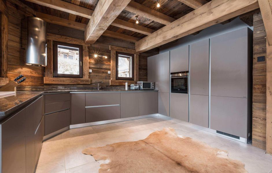 Location au ski Chalet Le Red Fox - Saint Gervais - Cuisine ouverte
