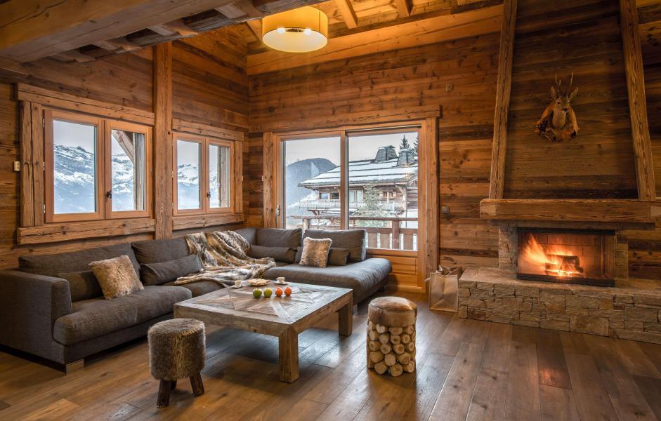 Location au ski Chalet Le Silver Fox - Saint Gervais - Canapé