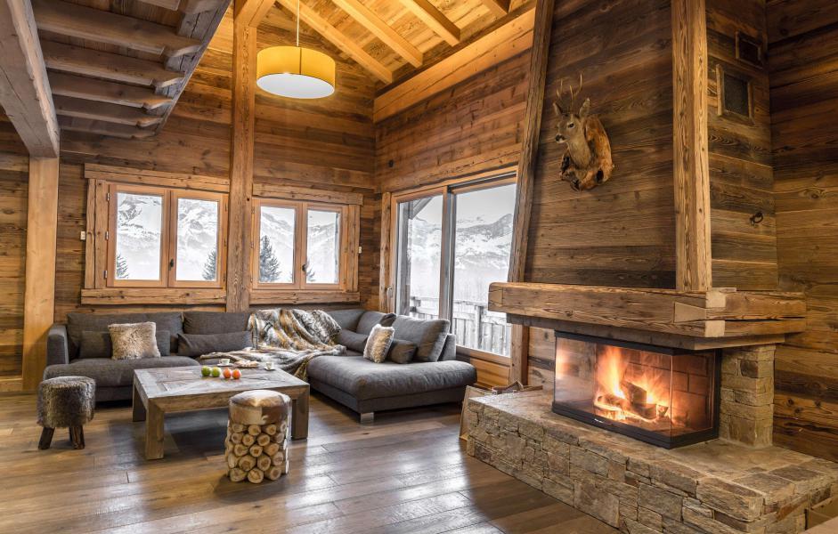 Location au ski Chalet Le Silver Fox - Saint Gervais - Cheminée