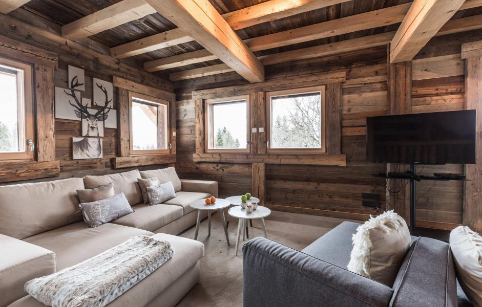Location au ski Chalet Le White Fox - Saint Gervais - Canapé