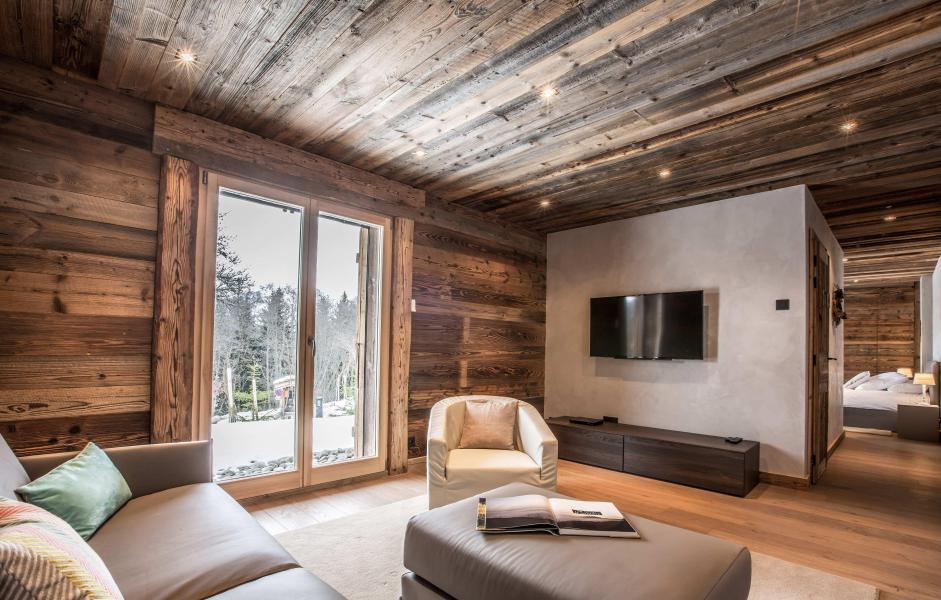 Location au ski Chalet Le White Fox - Saint Gervais - Séjour