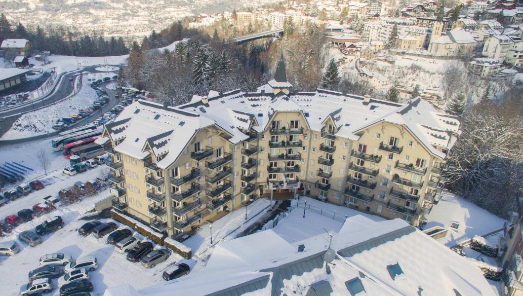 Urlaub in den Bergen Résidence le Grand Panorama - Saint Gervais - Draußen im Winter