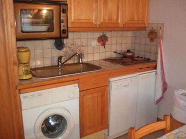 Rent in ski resort 2 room apartment sleeping corner 6 people (698) - Résidence les Jardins Alpins - Saint Gervais - Kitchen