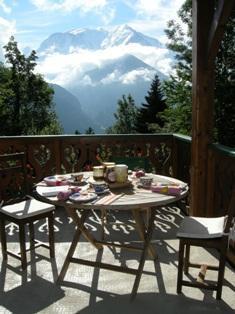 Location au ski Chalet triplex 6 pièces 8 personnes - Chalet Marie Paradis - Saint Gervais - Terrasse
