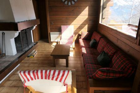 Rent in ski resort 5 room duplex chalet 8 people - Chalet Saint Nicolas - Saint Gervais - Living room