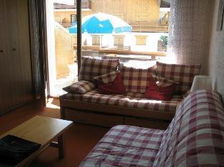 Location au ski Studio coin montagne 4 personnes (B02) - Residence De La Christaz - Les Collybies - Saint Gervais - Canapé
