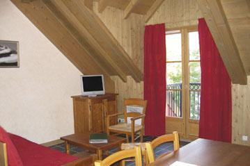 Location au ski Appartement 2 pièces 4 personnes - Residence Lagrange Les Arolles - Saint Gervais - Séjour