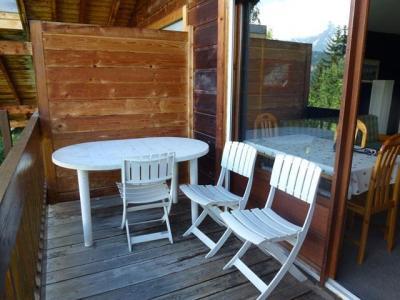 Location au ski Studio mezzanine 6 personnes (17) - Residence Le Taguy - Saint Gervais - Balcon
