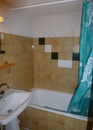 Location au ski Studio mezzanine 6 personnes (17) - Residence Le Taguy - Saint Gervais - Salle de bains