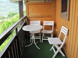 Location au ski Appartement 3 pièces mezzanine 6 personnes (83) - Residence Les Hauts De Saint Gervais - Saint Gervais - Table et chaises de jardin