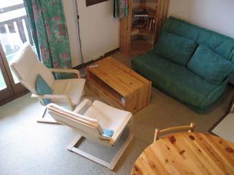 Location au ski Studio 2 personnes (71) - Residence Les Hauts De Saint Gervais - Saint Gervais - Canapé