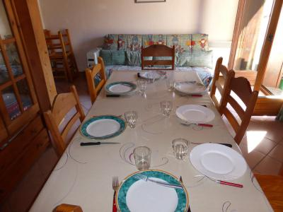 Rent in ski resort 3 room apartment sleeping corner 8 people (105) - Résidence les Jardins Alpins - Saint Gervais - Table