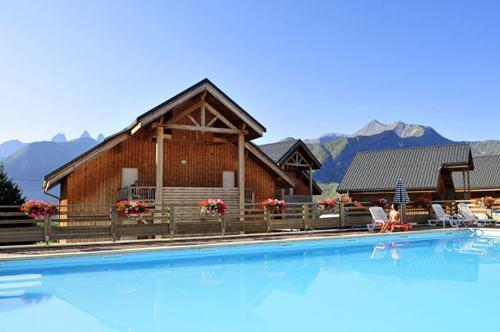Location au ski Chalets Les Marmottes - Saint Jean d'Arves - Piscine